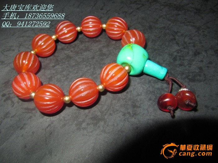 老玛瑙珠子手链 红色玛瑙 圆形 瓜珠 手链 佛珠 藏式