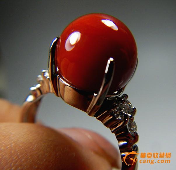 阿卡珊瑚圆珠戒指(编号:140)