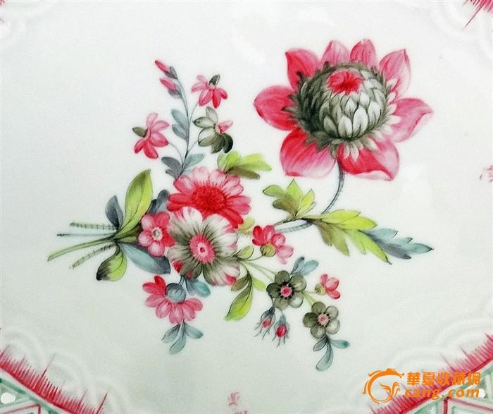 镂空手绘鲜花欣赏盘