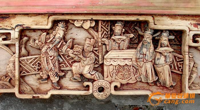 木雕花压图片