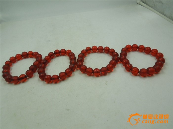 清代红色老琉璃圆珠直径1厘米17粒男女款手串一串