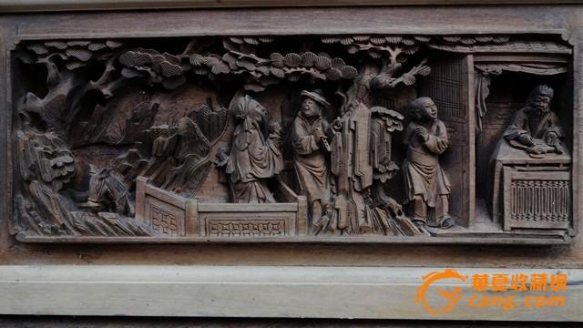 经典木雕.清雕大中堂.挂落一个.遇龙记.