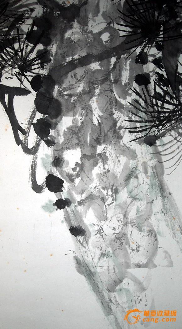 当代--武汉老画家--周才义《老松图》
