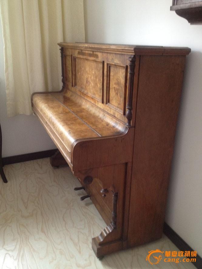 特价 欧洲 早期 英格兰 古董钢琴 影子木皮精美设计