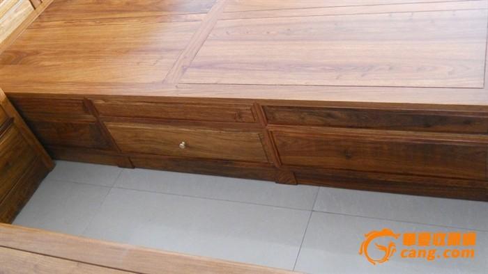 非洲花梨木现代床榫卯结构