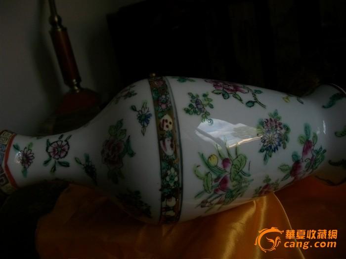 乾隆珐琅彩花纹瓶