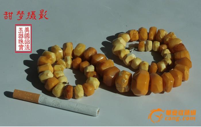 【荐】61.1克 大珠 宝石面老花蜜蜡 项链 【美国免费邮】图7