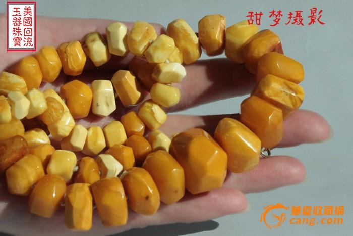 【荐】61.1克 大珠 宝石面老花蜜蜡 项链 【美国免费邮】图11
