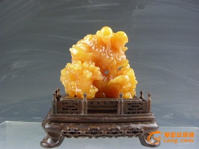 极品  黄金黄田黄雕鱼跃龙门-图1