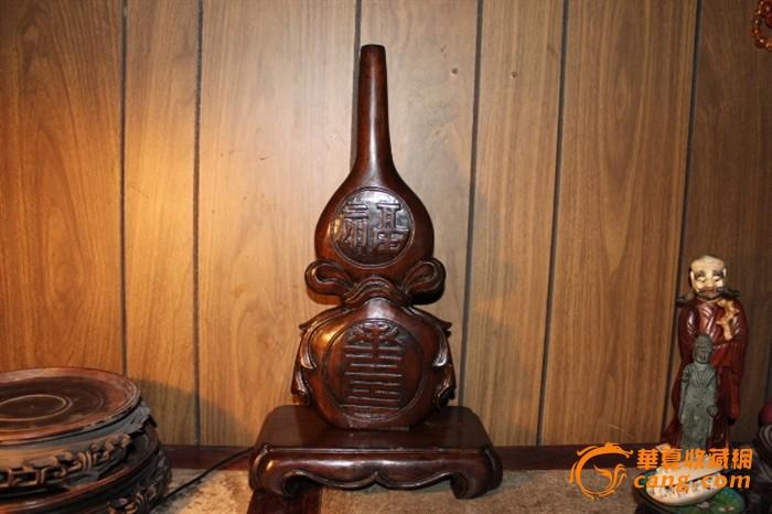 清代木雕葫芦摆件图1