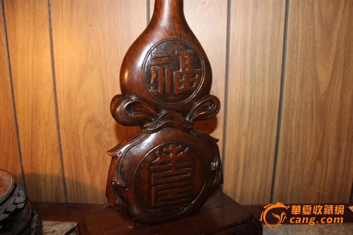 清代木雕葫芦摆件