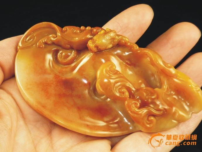 螭虎灵芝(寿山杜陵石)小摆件图6