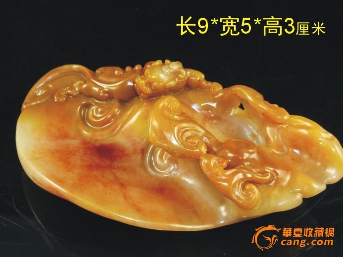 螭虎灵芝(寿山杜陵石)小摆件图7