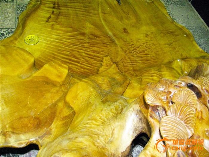 超大,花纹超美的金丝楠木茶盘