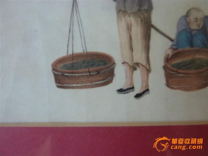 通草画:市井人物生活2件套图3