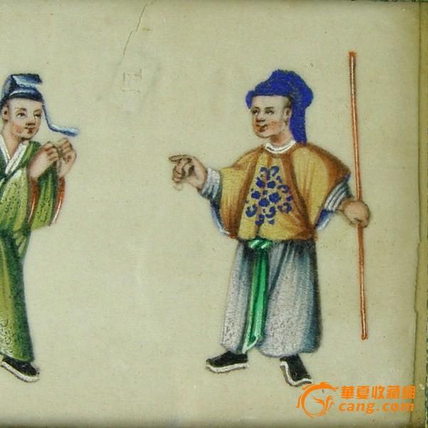 清代通草画:三件套图12