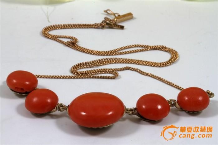 14K 金 MOMO 红珊瑚 原装 美品 项链 一条,不议价