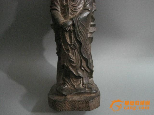 木艺木雕木器 沉香木 精雕观音菩萨 佛保平安 摆件