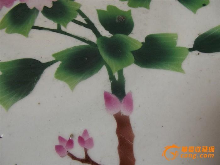 光民水彩花卉大盘