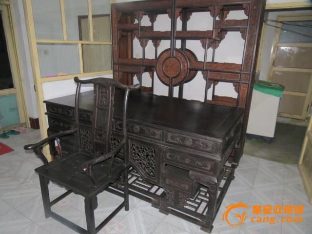 清代家具(书桌,椅子一套)