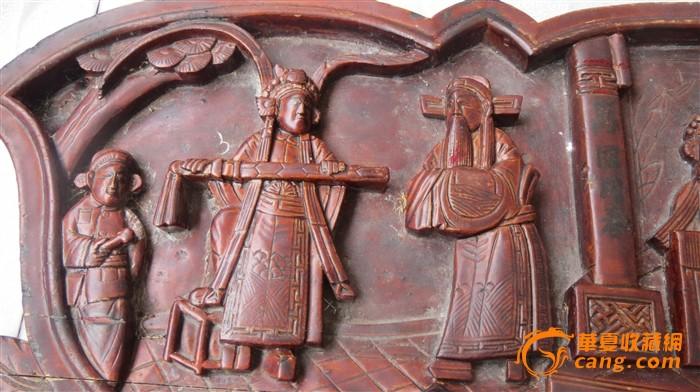 高浮雕人物木雕图2