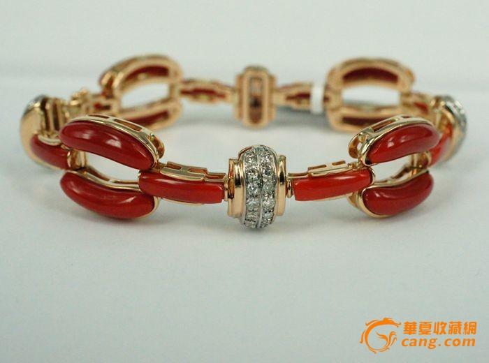 欧美回流 意大利设计师定制珠宝首饰 阿卡珊瑚手链