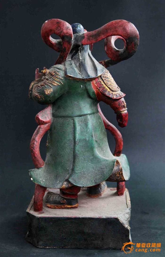 老木雕关公像图4