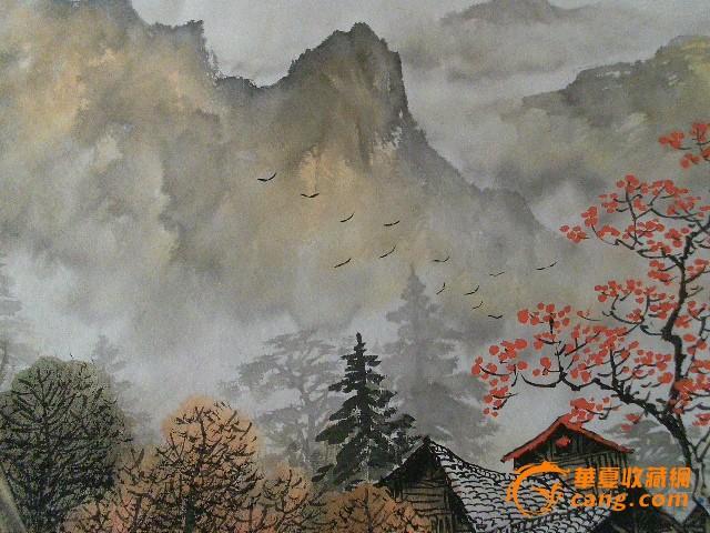 春夏秋冬风景国画