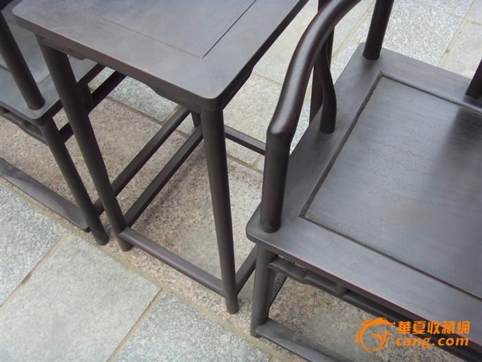 紫檀老家具一对官帽椅子图8