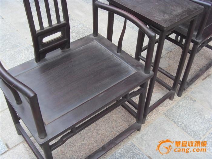 紫檀老家具一对官帽椅子图10