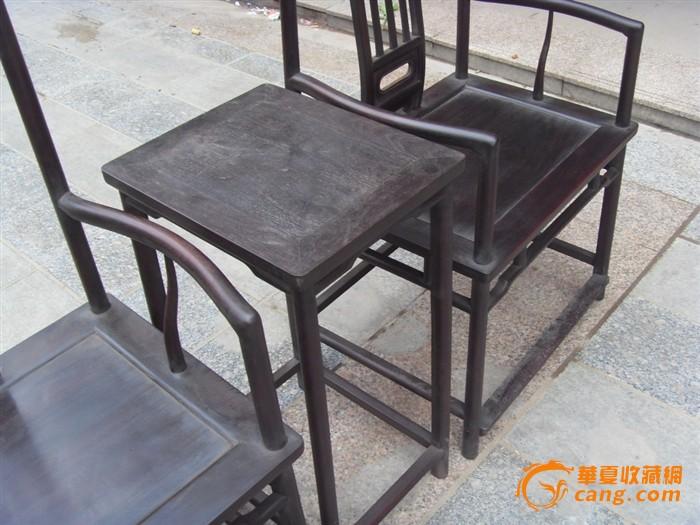 紫檀老家具一对官帽椅子图11