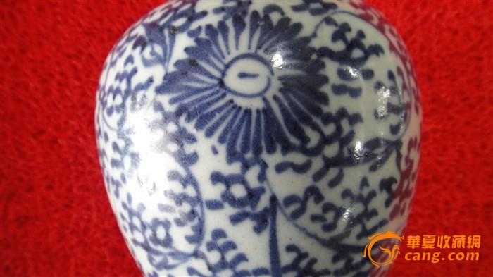 清青花缠枝花纹瓶