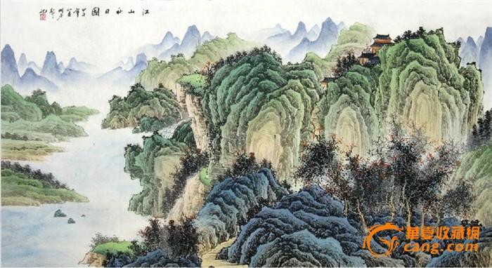 秦明芳·六尺工笔山水