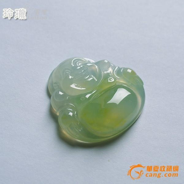 浅黄玻璃种翡翠笑佛挂件-5DX04图6