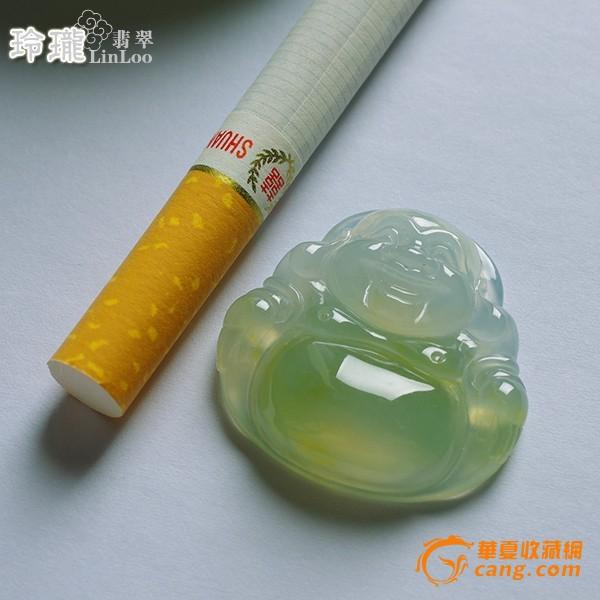 浅黄玻璃种翡翠笑佛挂件-5DX04图9