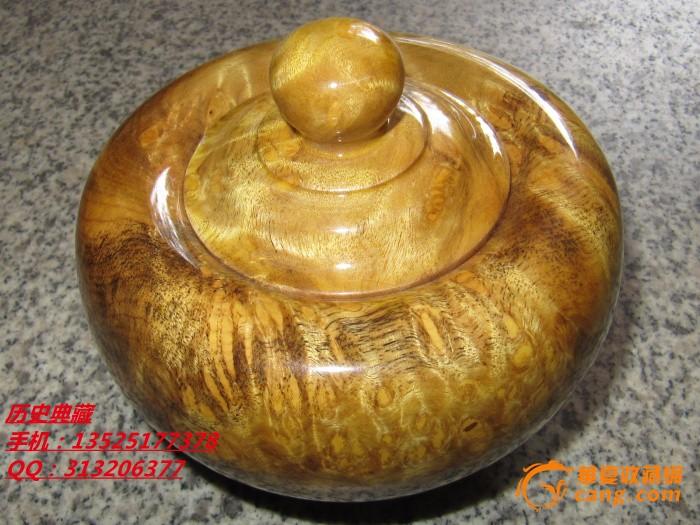 木艺木雕金丝楠木茶叶罐子摆件精品纹理好极具收藏品