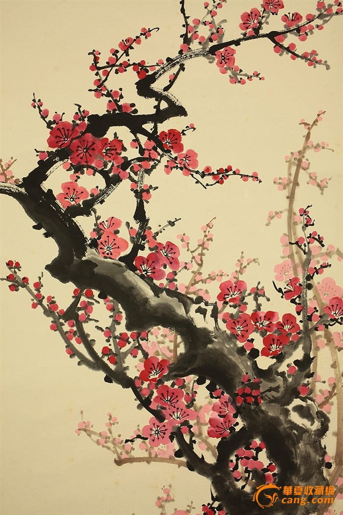 唐兆安-梅花树挂画
