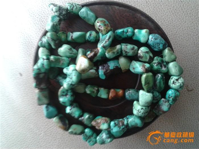 藏传老绿松石项链图3