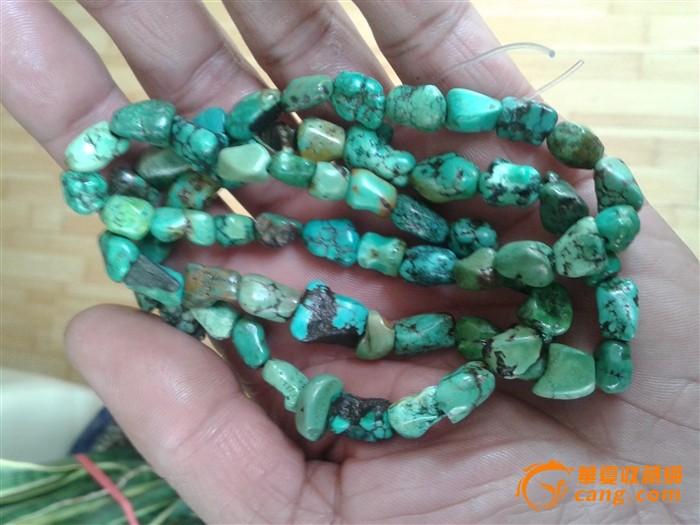 藏传老绿松石项链图2