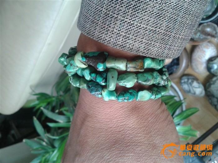 藏传老绿松石项链图4