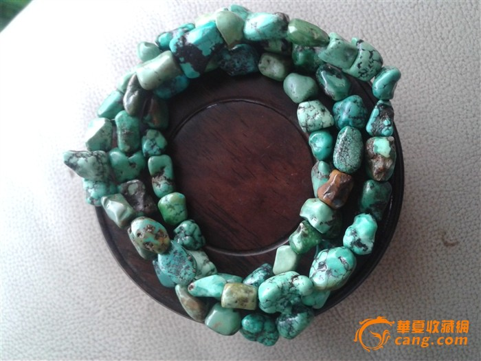 藏传老绿松石项链图1