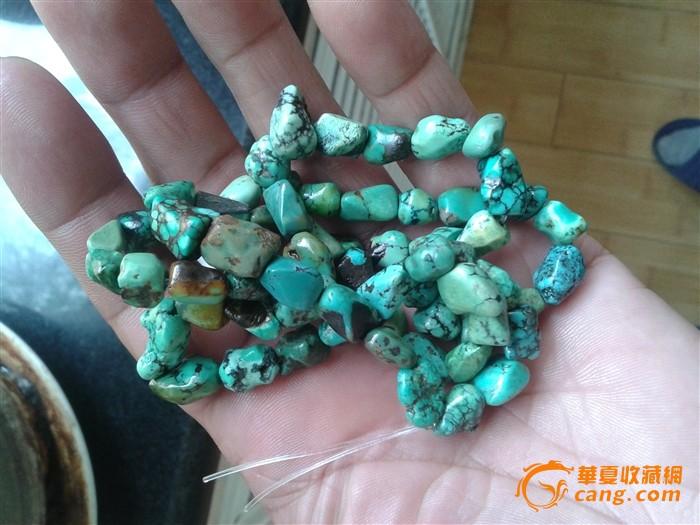藏传老绿松石项链图8