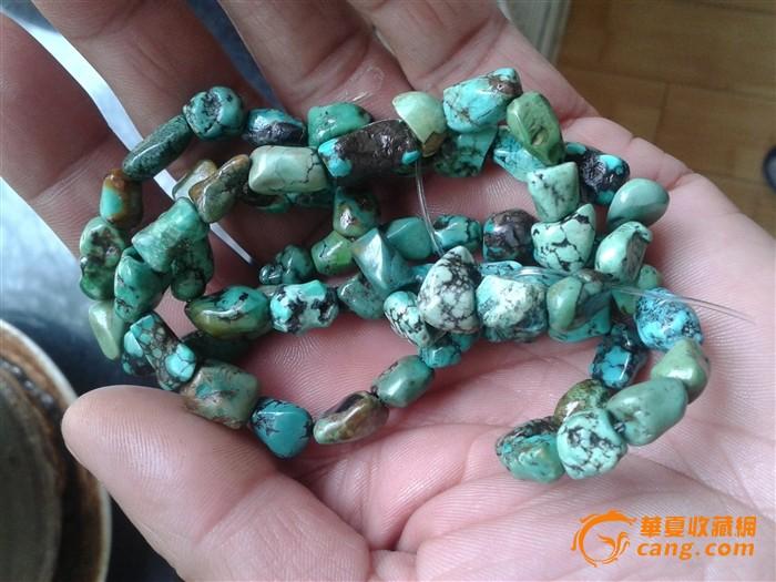 藏传老绿松石项链图9