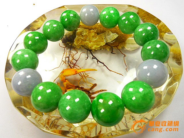 缅甸a货老坑满绿翡翠圆珠手链