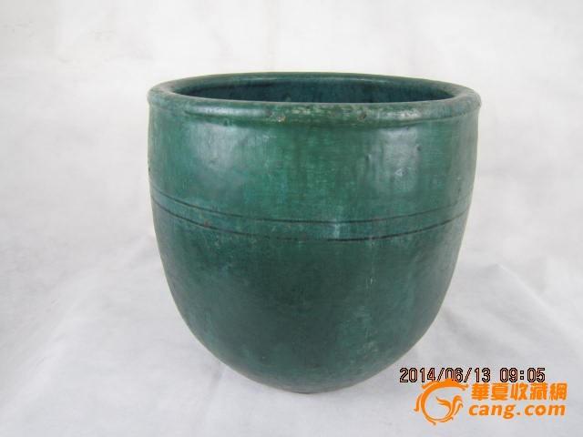 民国老瓷器苹果�v缸古玩古董文革陶瓷水缸