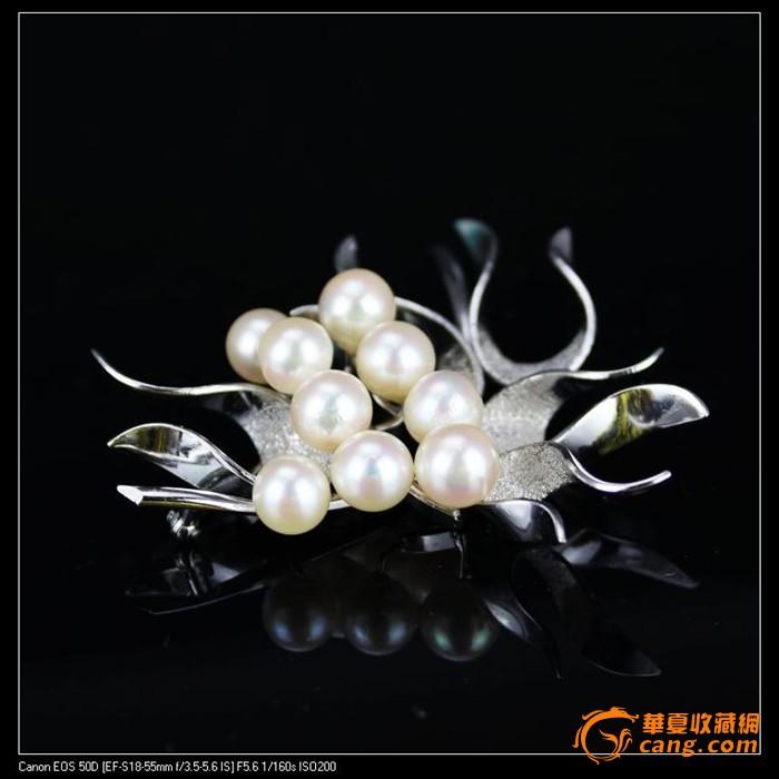 珍珠胸针 情人节 礼物 做工精致 戴上超优雅漂亮母亲节礼物