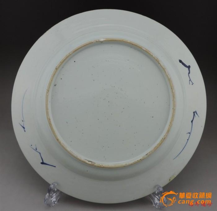 清代 康熙 青花 竹林飞燕 折腰 大盘 直径 32厘米图8