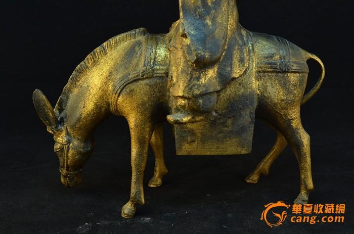 20世纪初 日本铁胎鎏金骑驴唱本仙人像图5