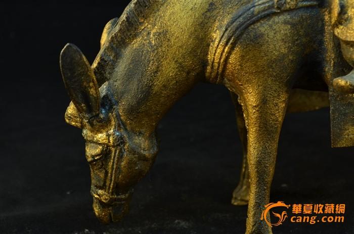 20世纪初 日本铁胎鎏金骑驴唱本仙人像图8