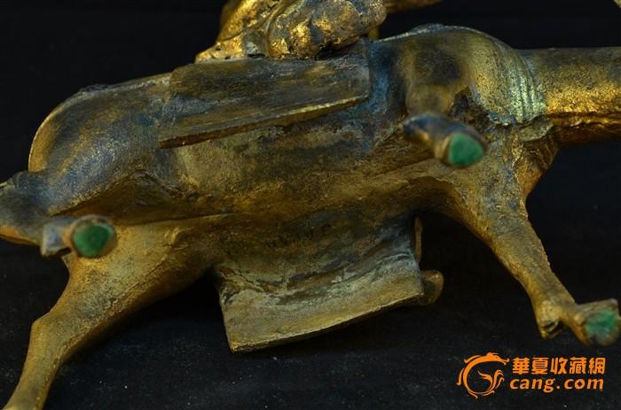 20世纪初 日本铁胎鎏金骑驴唱本仙人像图12
